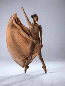 misty copeland1 taupe dress 2