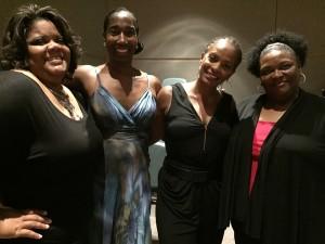Vanessa Bell Calloway, director Anita Dashiell-Sparks, Ursula Robinson and me